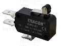 Microantrerupator cu tija-arc si rola KW3-41 1×CO 10(3)A/230V, 15mm, 6,3x0,8 mm, IP00