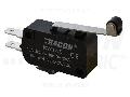 Microantrerupator cu tija-arc si rola KW3-55 1×CO 10(3)A/230V, 28mm, 4,8x0,8 mm, IP00