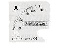 Cadran pentru aparatul de baza ACAM96-5 SCALE-AC96-500/5A 0 - 500 (1000) A
