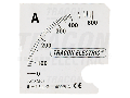 Cadran pentru aparatul de baza ACAM96-5 SCALE-AC96-1500/5A 0 - 1500 (3000) A