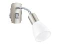 Lampa priza DAKAR 3 satin nickel, chrome 220-240V,50/60Hz IP20
