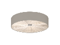 Lampa tavan FUNGINO satin nickel, alb 220-240V,50/60Hz