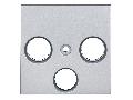 Masca pentru priza TV, tip HSAT cu 3 decupaje, argintiu