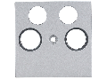 Masca pentru priza TV, tip HSAT, cu 4 decupaje, argintiu