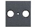 Masca pentru priza TV, tip HSBK, cu 2 decupaje, antracit