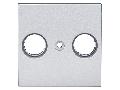 Masca pentru priza TV, tip HSBK, cu 2 decupaje, argintiu