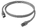 Patchcablu Cat.6a/10GB ecranat RJ45,LS0H,gri 5m