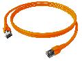 Patchcablu Cat.6a/10GB ecranat RJ45,LS0H,orange 0,5m