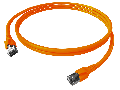 Patchcablu Cat.6a/10GB ecranat RJ45,LS0H,orange 5m