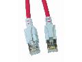 Patchcablu Cat6a cu LED ecranat RJ45 rosu 10GB 3m