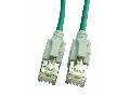 Patchcablu Cat6a cu LED ecranat RJ45 verde 10GB 0,5m