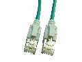Patchcablu Cat6a cu LED ecranat RJ45 verde 10GB 10m