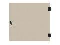 Usa integral din sticla pentru dulap DW 4U, 600mm, RAL7035