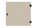 Usa integral din sticla pentru dulap DW 6U, 600mm, RAL7035