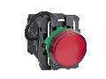 Lampa pilot monolit rosie obiectiv plan 22 cu LED 440 - 460V