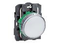 Lampa pilot complet alba 22 lentile netede cu LED integral 24V