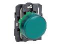 Lampa pilot complet verde 22 lentile netede cu LED integral 24V