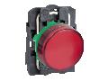 Lampa pilot complet rosie 22 lentile netede cu LED integral 24V
