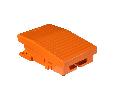 Comutator Picior Simplu - Ip66 -Fara Capac -Metalic -Portocaliu - 1 Nc + 1 No
