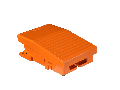Comutator Picior Simplu - Ip66 -Fara Capac -Metalic -Portocaliu - 2 Nc + 2 No