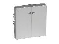 Clapeta 2 Butoane Cu Fereastra Indicator, Aluminiu, Sistem M