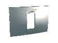 Unica Allegro - Rama De Acoperire - 1 M - 1 Poarta - Argintiu Mat
