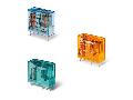 Relee Miniaturizate Implantabile (PCB) 8 - 10 - 12 - 16 A - 2 contacte, 10 A, C (contact comutator), 110 V, Standard, C.C., AgSnO2, PCB/fi?abil - 5 mm intre pinii contactului, Niciuna