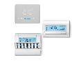 Termostat de camera programabil - 1 contact, 5 A, Alb, 3 V, C.C., Standard, Ecran Touch pentru cutii incastrate, Saptamanal