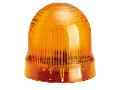 BLINKING OR STEADY LIGHT MODULE. Ø62MM. BA15D FITTING, ORANGE, 24…230VAC