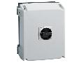 IEC/EN TYPE IP65 Cutie ne metalica cu intrerupator rotativ, tripolar. WITH ROTATING BLACK HANDLE, 125A