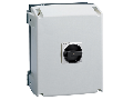 IEC/EN TYPE IP65 Cutie ne metalica cu intrerupator rotativ, tripolar. WITH ROTATING BLACK HANDLE, 160A
