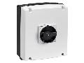 IEC/EN TYPE IP65 Cutie ne metalica cu intrerupator rotativ, tetrapolar. WITH ROTATING BLACK HANDLE, 63A