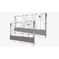 Panou gard mobil zincat pentru protectie goluri in santier  H 1100 cm L 1700cm