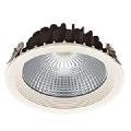 Spot LED incastrat 9W, 1180lm, 4000K, optica 60 grade, CRI>90, UGR<19, D=136mm, h=70mm, IP44, alb, FRANCO1