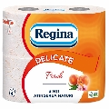 Hartie igienica Regina Delicate, piersica, 3 straturi, 4 role