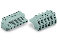 2-conductor female connector; 2.5 mm²; Pin spacing 7.5 mm; 4-pole; 2,50 mm²; gray