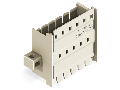 Panel feedthrough male connector; clamping collar; Pin spacing 5 mm; 4-pole; light gray