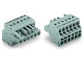 2-conductor female connector; 2.5 mm²; Pin spacing 5 mm; 8-pole; 2,50 mm²; gray