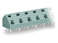 PCB terminal block; 2.5 mm; Pin spacing 10/10.16 mm; 5-pole; CAGE CLAMP; commoning option; 2,50 mm; gray