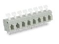 PCB terminal block; push-button; 2.5 mm; Pin spacing 7.5/7.62 mm; 5-pole; CAGE CLAMP; commoning option; 2,50 mm; gray