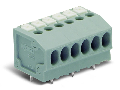 PCB terminal block; push-button; 1.5 mm; Pin spacing 3.5 mm; 9-pole; Push-in CAGE CLAMP; 1,50 mm; gray