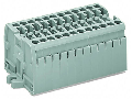 Terminal strip; 6-pole; without push-buttons; with fixing flanges M3; for screw or similar mounting types; Fixing hole 3.2 mm ; 2.5 mm; CAGE CLAMP; 2,50 mm; light gray