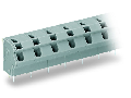 PCB terminal block; 2.5 mm; Pin spacing 10/10.16 mm; 3-pole; PUSH WIRE; 2,50 mm; gray