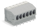 PCB terminal block; push-button; 1.5 mm; Pin spacing 3.5 mm; 5-pole; Push-in CAGE CLAMP; 1,50 mm; gray