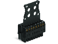 1-conductor female connector, 2-row; 100% protected against mismating; Screw flange; Strain relief plate; direct marking; 1.5 mm; Pin spacing 3.5 mm; 22-pole; 1,50 mm; black