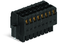 1-conductor female connector, 2-row; 100% protected against mismating; Screw flange; direct marking; 1.5 mm; Pin spacing 3.5 mm; 22-pole; 1,50 mm; black