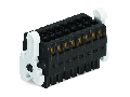 1-conductor female connector, 2-row; 100% protected against mismating; Levers; Strain relief plate; direct marking; 1.5 mm; Pin spacing 3.5 mm; 22-pole; 1,50 mm; black