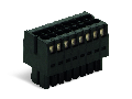 1-conductor female connector, 2-row; 100% protected against mismating; Strain relief plate; direct marking; 1.5 mm; Pin spacing 3.5 mm; 22-pole; 1,50 mm; black