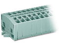 2-conductor terminal strip; 7-pole; without push-buttons; with snap-in mounting feet; for plate thickness 0.6 - 1.2 mm; Fixing hole 3.5 mm ; 2.5 mm; CAGE CLAMP; 2,50 mm; gray