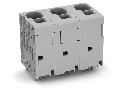 PCB terminal block; 16 mm; Pin spacing 15 mm; 3-pole; Push-in CAGE CLAMP; 16,00 mm; gray